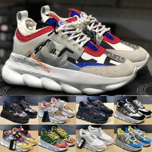Italiano Cruz Chainer 2 Trainers Homens Mulheres Sneakers 2020 Design Correntes Branco Vermelho Imprimir 16 cores Borracha Suede Platform Outdoor Sapatos