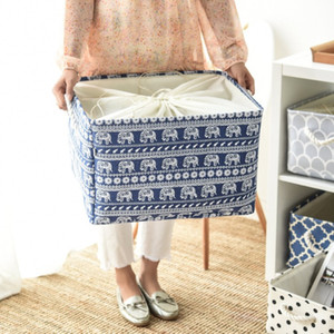 Cube Canvas Basket Fabric Storage Basket Clothes Folding Storage Box For Nursery Underwear Toy Organizer Laundry Basket With Handle
