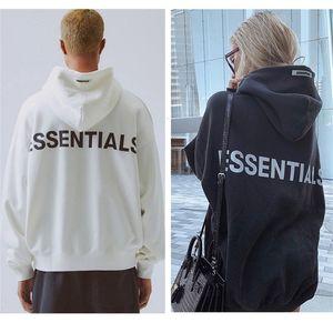 Туман двойной нитью Essentials Вышитые рефлексивные мужские и женские одежды Hoodie Street Top 100% хлопок высокое качество