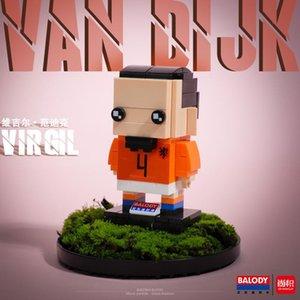Presentes construção Super Mini Brinquedos Brickheadz 20010 Mini 20010 Bloco Balody20001 Estrela Balody20001 Series Para montado Futebol Crianças CStsI