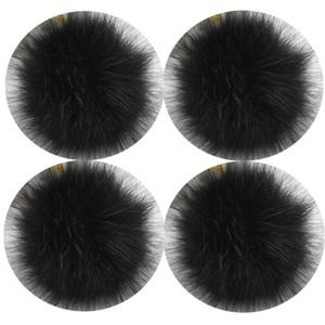 4PCS Lot 12cm Fluffy Faux Qinju Fur Ball Pompom Plush Women Bag Car Jewelry For Apparel Hat Sewing Fabric Accessories
