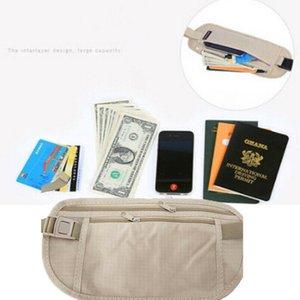 Paketleri Taşınabilir Temel Kemer Kılıfı Pasaport Çantası Rahat Para Secret Bel Fermuar Cüzdan Ince Çanta Kadın Bel Katı Gizli Ikaat