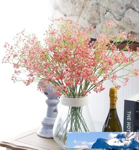 """Hot Sale Unique 80 Heads 23.6"""" Length Artificial Baby's Breath Gypsophila Simulation Flower For Party Wedding Home Decoration Multi Color"""