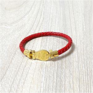 2020 braccialetti di cuoio tasto a schiocco all'ingrosso BraceletBangles di alta qualità per le donne Snap pulsante gioielli di moda per la donna con la scatola