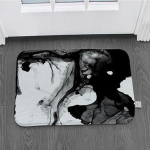 Retro pintado a mano la puesta de sol cocina felpudo dormitorio antideslizante suelo de dibujos animados decoración felpudo alfombra de franela suave estupendo