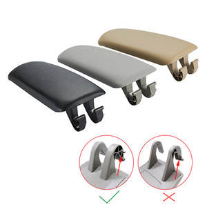 1 Pcs Leather Car Armrest Latch Cover For Audi A4 B6 B7 2002-2007 Center Console Arm Rest Storage Box Lid Cover Auto Accessories