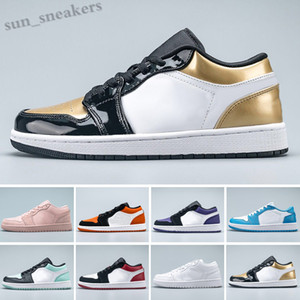 Basketball shoes2019 Low 1 1s Jumpman Shoes UNC OG SP Travis Scotts Black Toe Pin Green Triple Black White Men Women Trainers Sneakers RG06