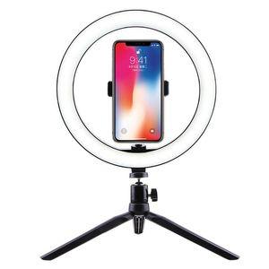 Selfie Ringlicht LED-Kreis-Licht USB-LED Schreibtischlampe mit Ständern Dimmbare Fill für Live-Strom-Fotografie