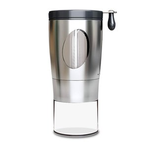 Mill Manual Coffee Grinder With Ceramic Core Hand Crank Stainless Steel Office