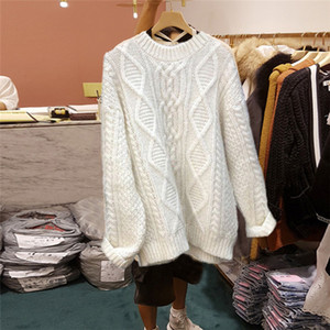 вязать свитер дизайнер высокого класса O-шеи Повседневный вязание свитера мужская с длинным известный бренд женщин свитер Удобный твист свитер