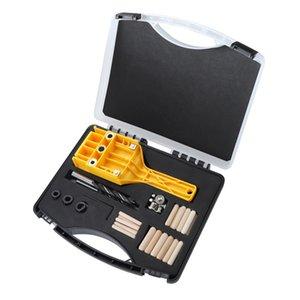 74pcs Carpintaria Hetero furador encaixotado Handheld placa de madeira Connection Furação Locator Woodworking Tool Set