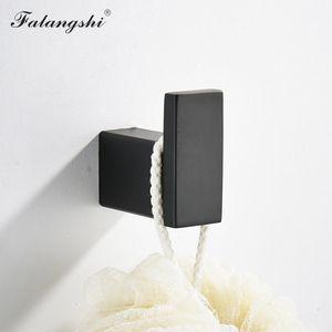 Rack di qualità del tovagliolo di colore nero Bagno supporto in acciaio mensola Ganci High Set Bagno Hardware Wb8838 Acciaio carta Falangshi 304 SmujP