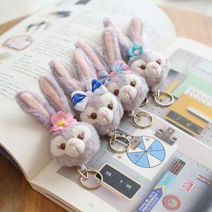 hemşire doktor öğrenci için Karikatür peluş tavşan geri çekilebilir Rozet Reel Tutucu Anahtarlık sevimli ayı okul çantası kolye