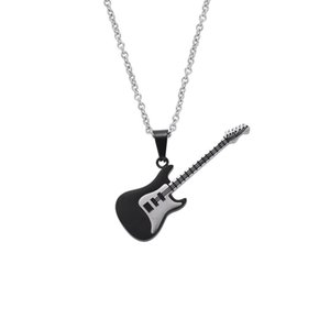 Jewelry European and American Guitar Music Department Stainless Steel Pendant Necklace Fashion Street Dance Male Student Pendant