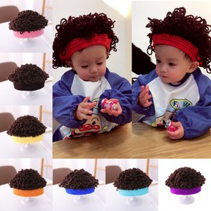 2020 NEW 8 Styles Knitted Children Hats Woolen Cap Trendy Boy Daily Accessories Wig Hats for Kids Idea Gifts