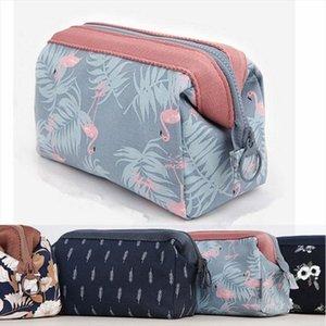 Fashion Flamingo Ladies Make Up Bag Casual Large Capacity Case Cosmetic Travel Girls Women Handbag Multifunction Waterproof Box
