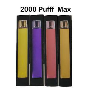 Puff Max XXL più bar 2000 sbuffi 2020 i più nuovi e getta dispositivo Vape Pod 8 colori del rifornimento della fabbrica del DHL trasporto veloce