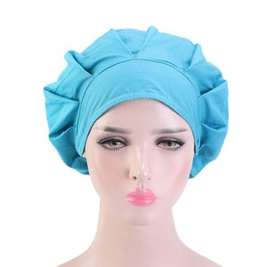2020 New Cotton Breathable Bandage Adjustable Nurse Bouffant Hat Dust proof Head Cover Unisex Scrub Cap Gorro Enfermera Quirofano