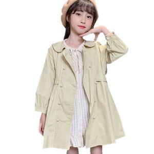 Jackets for Girls Toddler Fashion Kids Girls Jacket Double-breast Windbreaker for Autumn Children Jacket Trench Coat