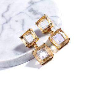 Fashion jewelry personalized glass crystal geometric women's earrings earrings1231231