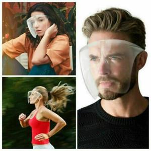 Isolamento Blocc face escudo anti-fog máscara máscara protetora de proteção transparente respingo Gotas Head Cover Máscaras Designer 120pcs CCA12541