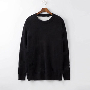 Autumn Winter Black Sweaters Men Fashion Long Sleeve Letter Print Couple Sweaters Loose Pullover Designers Sweaters