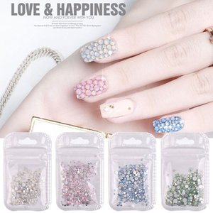 Multi-Size Glitter Glass Nail Art Rhinestones Flatback Hot Fix Rhinestones For Bag Shoes Nails 3D Nail Art Decoration SS4-SS20