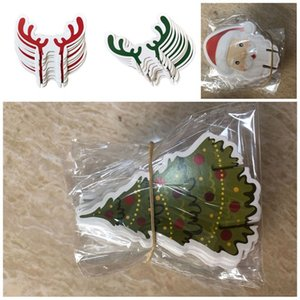 Personalized Decorations Card Insertion Christmas Cup Cards Red Wine Trees Ornaments 2020 Baubles Green Deer Heads Romantic 1 2mz F2
