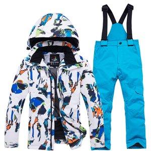 Childrens giacca invernale set tuta da sci per la strada per bambine e bambini vestiti di sci per lo snowboard calda giacca invernale + pantaloni