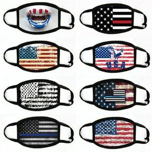 Baskı toz geçirmez eksikliği Maskeler Amerikan Seçim Malzemeleri Evrensel İçin Erkekler Kadınlar Amerikan Bayrağı Parti Maskesi # 857 Maskesi
