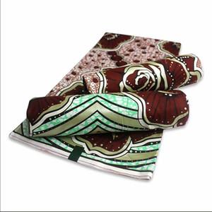 Nouvelle arrivée 100% coton tissu nigérianes impression de cire haute tissu de cire d'or de qualité africaine pour les femmes habillent la cire de tissu 6 verges