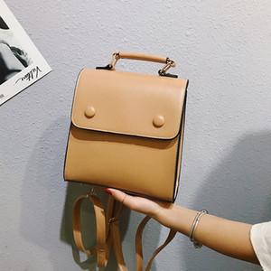 Trucco Challen Mini delle donne dell'annata Backpack Classic Leather Back Pack Ragazze sacchetto della copertura del Soft Touch Zaini sacchetto femminile goth #