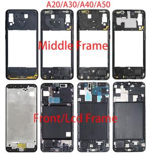 For Samsung A20 A30 A40 A50 A205F A305F A405F A505F Front Housing LCD Frame Middle Frame Back Plate Housing Back Cover