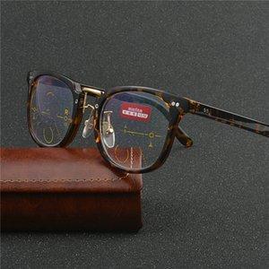 Progressive multifokale Gläser blaues Licht Blocking Lesebrille Männer Art und Weise Marke Design Frauen Großen optischen Rahmen NX