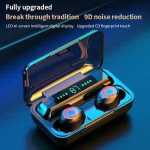 S12 TWS Wireless Bluetooth 5.0 Headphone 2200mAh Waterproof Earphones HIFI Stereo Noise Cancelling Headset Touch Earbuds Power Display