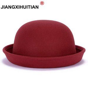 2020 Новая осень-зима мода теплой шерсти войлока Шапки женские в фетровых Шляпы Retro Vintage животных Cap не деформируется фетровых для женщин