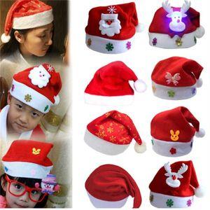 Warehouse wholesale Men Women Christmas Decorations Christmas adult Red Ordinary Santa Hat Santa Claus Children Santa Hat free . .
