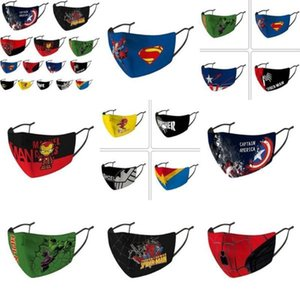 America Shield Protection Designer Kids Captain Captain Marvel Riding Masque Punisher Cubrebocas Masque Masque froid Deadpool Visage sqcJL