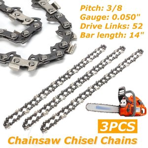 "3 pcs 14"" Chainsaw Chain Semi Chisel 3 8LP 0.050"" 52DL Chain for Chainsaw"