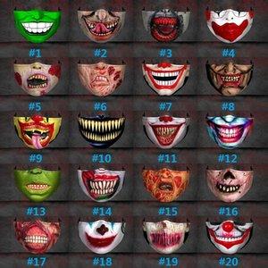 Mund Halloween Big Mask Weihnachten Chip Lustige 3D-Druck Schutz Einstellbare Expression NWC2367 Party Band Staub und Dunst Einfügbare Aoel