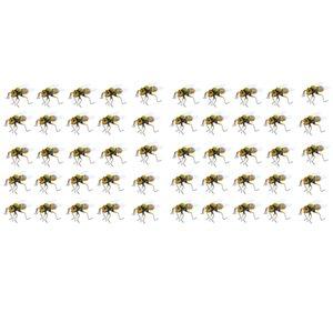 50x Otlak Lifelike Arı Böcek Süsleme dolabı Magnet Canlı Kil Biblo Modeli Heykeller DIY Mikro Peyzaj Çim Heykel Yaz Dekor