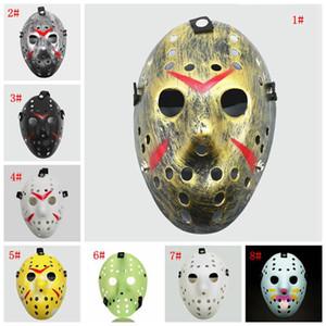 Máscaras de la mascarada de la máscara de Jason Voorhees viernes 13 de horror Película de hockey máscara máscaras de disfraces de Halloween de miedo plástica del partido de Cosplay DHF836