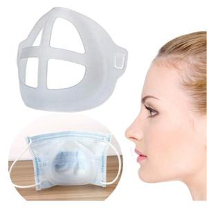 Rápido transporte 3D máscara bracket reutilizável protetor de protecção de batom insuficiência interior nariz aumento respirando espaço da cobertura da capa 1000pcs