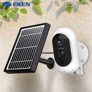 EKEN استرو 1080P بطارية الكاميرا مع كاميرا IP الأمن شمسية IP65 WIFI مانعة لكشف الحركة لاسلكية