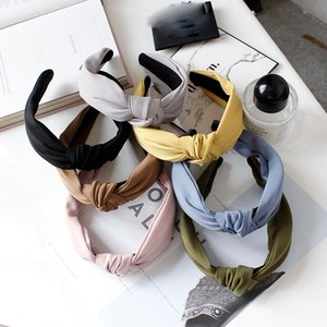 New Verão Chiffon Knot Headband Hairband para mulheres Broadside Bow Carneiras Cabelo Hoop Meninas Cabelo Acessórios Headwear