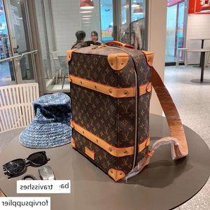 Marcada Brands M44752 SOFT TRONCO homens de couro mulheres mochila designer mala grande siz