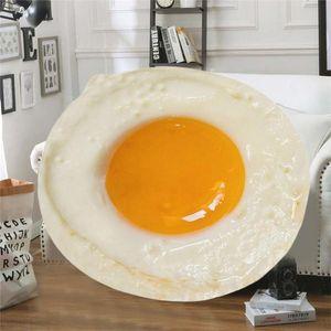 Escaldado Blanket Egg confortável criativa Realistic lançar cobertor Novel perfeito durante todo Tortilla sofá-cama 1,21