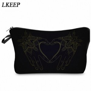 2019 Love Heart Pattern Women Clutch Cosmetic Bag Make Up Organizer Fashion Women Printing Multifunction Portable Makeup Bags ltUY#