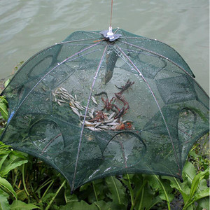 Pieghevole Crab Nassa per pesci rete gettata rinforzato 4-8 fori di pesca automatico gamberetti Rete della gabbia Nylon Fusioni Rete da pesca pieghevoli