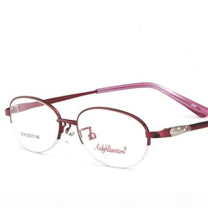 New Type of Glass Frame Metal Half-frame Optical Glasses for Women with Ultra-Light Myopia